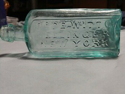 Very Rare Open Pontil Dr.DeWitt C.Kellinger New York Medicine Bottle