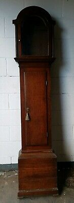 18thc Oak LONGCASE GRANDFATHER CLOCK CASE for arched dial 12X17