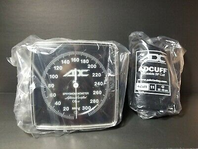 "New ADC 6"" Large Face Aneroid Sphygmomanometer & Adult Cuff"