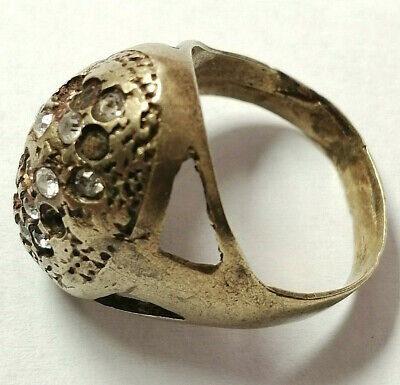 Extremely Rare Ancient Antique Ring Bronze Artifact Very Old Stunning Stones