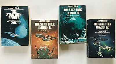 The Star Trek Reader I-IV 1-4 by James Blish HC DJ 1976-78 BCE