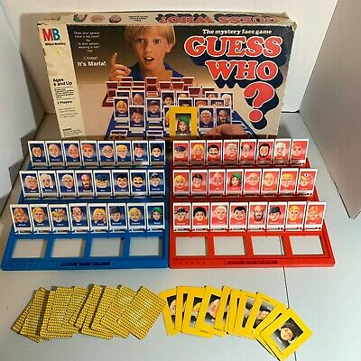 Guess Who Board Game 1991 Vintage Milton Bradley 100% Complete No Instructions