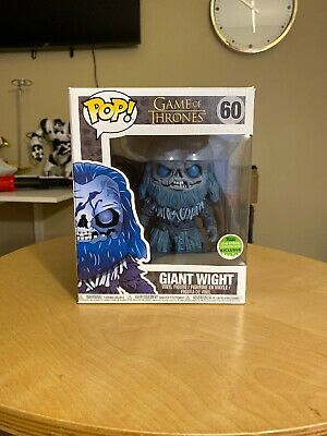 Funko Pop GOT Game of Thrones Giant Wight 2018 ECCC Exclusive White Walker SDCC