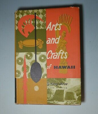 Rare Vintage book  Arts and crafts of Hawaii  Bishop Museum Press Polynesian