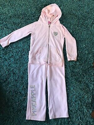Pineapple Girls Velour Pink Tracksuit Age 8-9