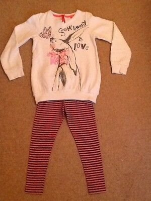 Next Girls leggings with long sleeved top age 7