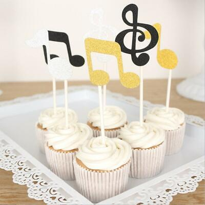 Music Note Cupcake Toppers Musical Quaver Treble Clef Buns