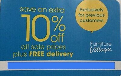 10% OFF !! Furniture Village Voucher + NO DELIVERY FEE