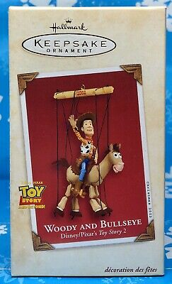 Hallmark 2002 Woody And Bullseye Toy Story Disney Pixar Christmas Ornament