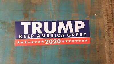 Trump For 2020 President Keep America Great ! USA Decal Bumper Sticker 1 pc