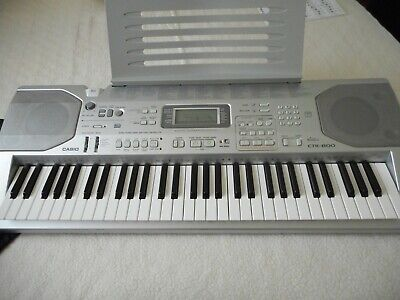 As New Casio Keyboard/Piano With Stand CTK800 Carry Bag Keyboard Cover All Books
