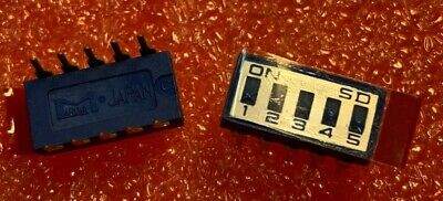 147 X SD-05EL - MARUWA JAPAN   -  DIP SWITCHES   5 Way Through Hole Slide Switch