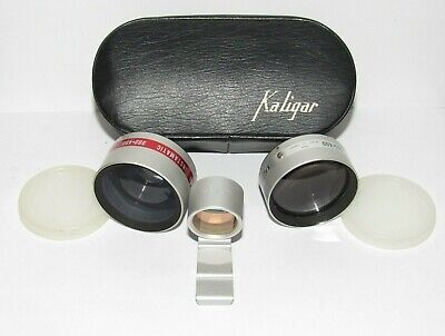 Kaligar Wide Angle Telephoto Lens for Kodak Instamatic 300-400 w/ Case Vintage