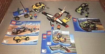 Lego 60019 60055 60082 City Lot 3 Complete Sets With Minifigures Manuals