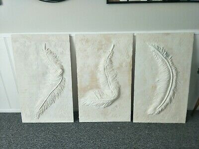HANDMADE WALL ART DECOR  3 pieces LARGE FEATHERS size 600cm x 1000 metre each