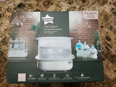Tommee Tippee Baby Newborn Electric Bottle Super Steam Feeding Steriliser White