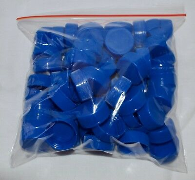 70 plastic (BLUE) bottle top caps great for arts and crafts