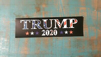 Trump For 2020 President USA FLAG RED WHITE AND BLUE Decal Bumper Sticker 1 pc