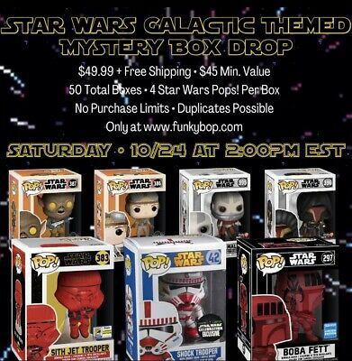 Funko Pop! Mystery Box: Star Wars Themed + Chase + Grails + Vaults + More!