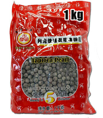 WuFuyuan Tapioca Pearl Black 1 Kg for Boba Bubble Milk Tea Drink