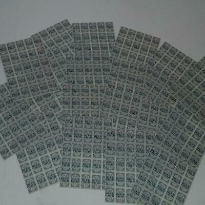 25 Double D saving stamp pages 2500 stamps 100 per sheet paper ephemera