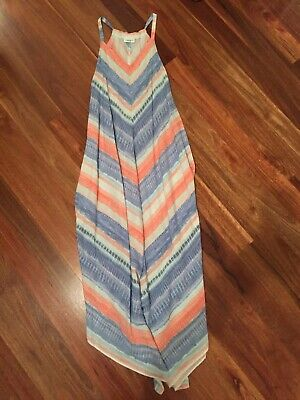 Jeans West Womens Multicolored Maxi Dress, Size 8 Bnwot Asymmetrical Pretty