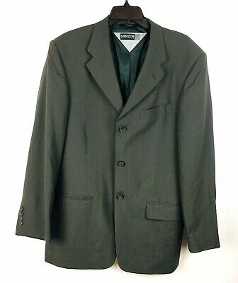 Claiborne Components Mens Brown Worsted Wool 3 Buttons Blazer Sport Coat Jacket