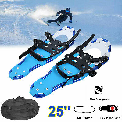 1 Pair 25'' All Terrain Sports Snowshoes Aluminum Alloy with Free Carrying Bag