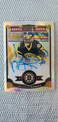 2015-16 O-Pee-Chee OPC Platinum Rookie White Ice #/99 Malcolm Subban