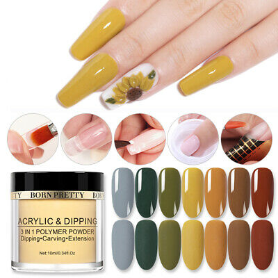BORN PRETTY 10ml 3 In 1 Acrylic Dipping Powder Nail Art Carving Extension Effect