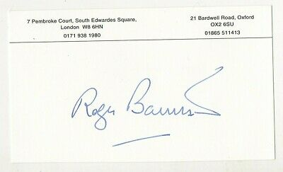 Roger Bannister  - Hand Signed  Autograph -  Four Minute Mile  Athelete .