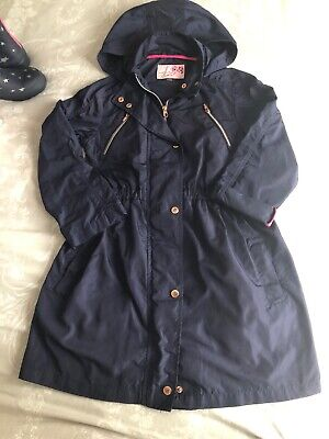 Girls Ted Baker Navy Blue Lightweight rain Jacket coat with hood Age 12