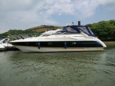 SUNSEEKER PORTOFINO 40 CRUISER MOTOR BOAT WITH MOORING DARTMOUTH/DEVON 2x KAD 42