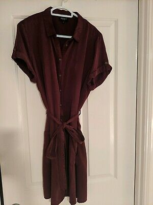 "Jeans West ""Erika"" tencel shirt dress size 16"