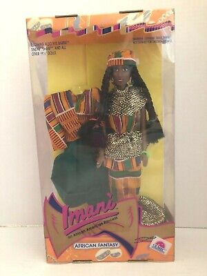 "Vintage Imani African Fantasy African American Princess 11 1/2"" Doll New in Box"