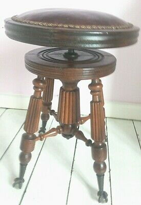Victorian Ornate Walnut  Piano Stool made by O AND P Ltd of  Canada adjustable