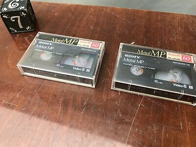 3 x Sony Metal MP9 60 Video 8  8mm Camcorder Tape