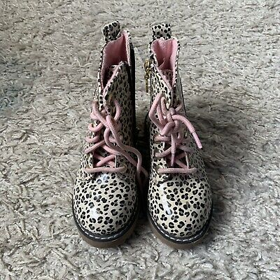 Hello Kitty Leopard Print Dr Marten Style Boots Size 10/28