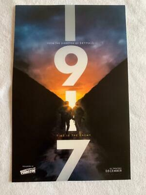 "1917 - 11""x17"" Original Promo Movie Poster NYCC 2019 MINT Sam Mendes"