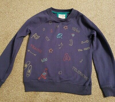 Boden Johnnie B boys Blue Jumper Sweater Aged 11-12years