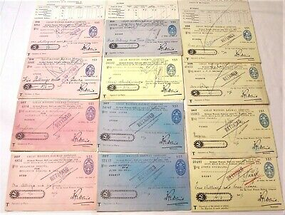 12 Great Western Railway Company Dividend Statements & Cheques 1943-1948 GWR