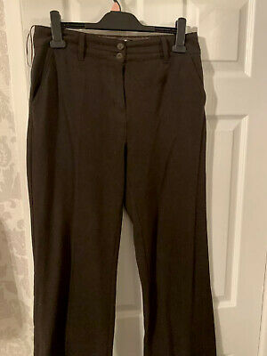 ladies Marks and Spencer Per Una brown trousers size 12r