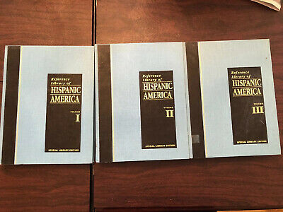 Reference Library Of Hispanic America Ex Library Volume 1-3 Hc 1993