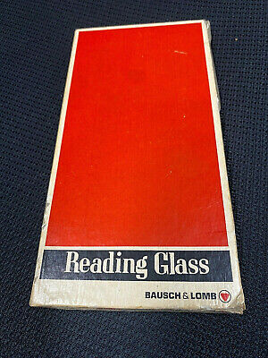 Vintage Bausch & Lomb Rectangular Magnifier Reading Glass In Black 81-33-76