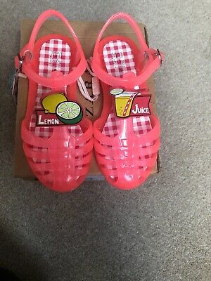 Zara Baby girls pink sandals jelly shoes size 9 uk/26 EUR