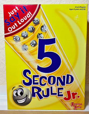 5 Second Rule Jr Board Game 2 Packs Cards Sealed