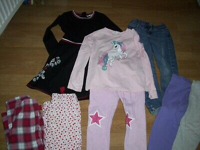 Girl's winter bundle of clothing.Age 6-7 years.Dress,leggings, jeans, trousers.