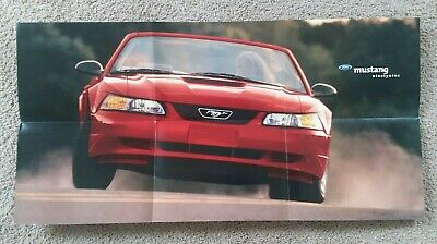 Big 2000 Ford MUSTANG Brochure POSTER with Color Chart GT,CONVERTIBLE,