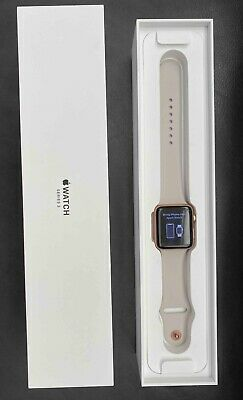 AppleWatch Series 3 (GPS) 42mm Rose Gold Aluminum Case with White Sport Band
