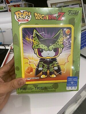 Funko Pop! Tees Dragon Ball Z Perfect Cell Metallic Gamestop Exclusive  Size L